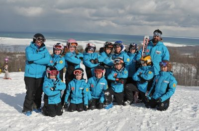Skiing Group shot